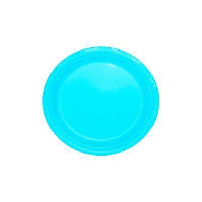 Pratinho para Sobremesa 18 cm Azul bebê pacote com 10 unid