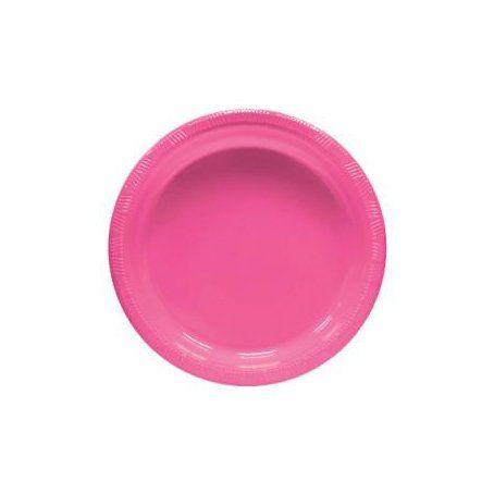 Pratinho para Sobremesa 18 cm Pink pacote com 10 unid