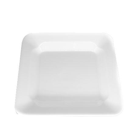 Prato Descartável Branco 15 cm Quadrado pct com 10 unid