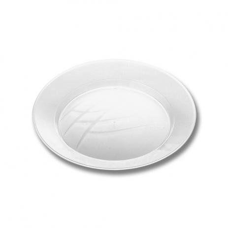 Prato Descartável Branco 15 cm Redondo pacote com 10 unid
