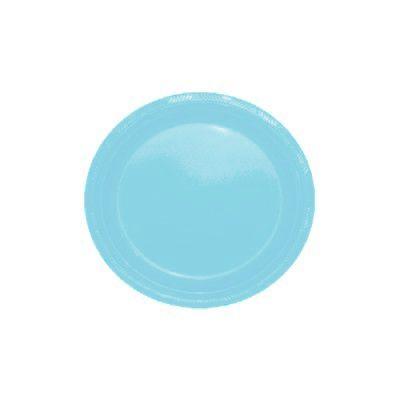 Pratos Descartáveis Simples 15 cm Azul com 10 unid