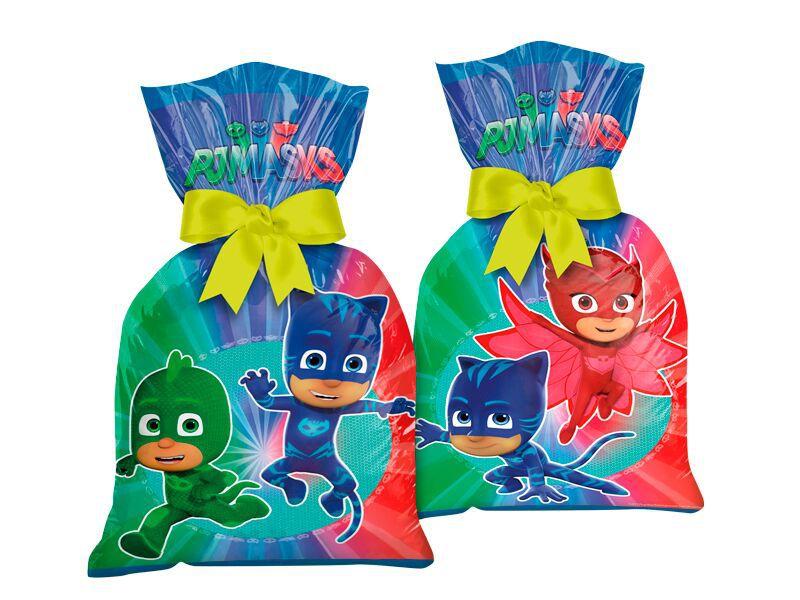 Sacola Surpresa para Lembrancinhas do PJ Masks - kit com 8 unid