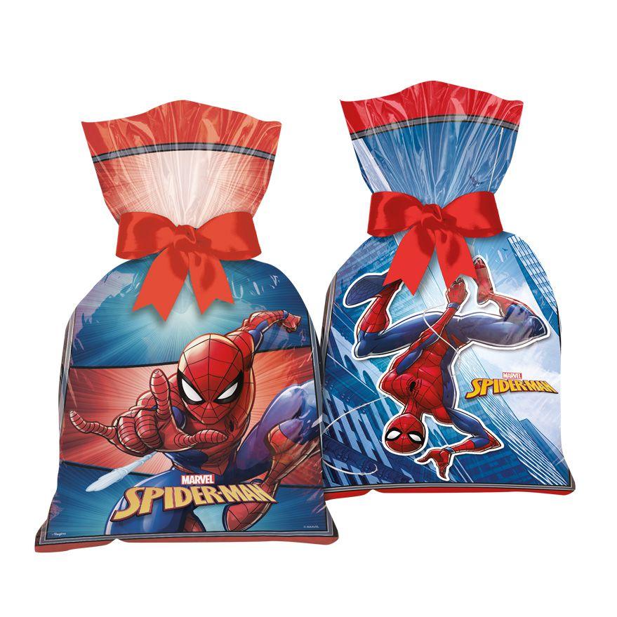 Sacola Surpresa para Lembrancinhas Homem Aranha kit com 8 unid