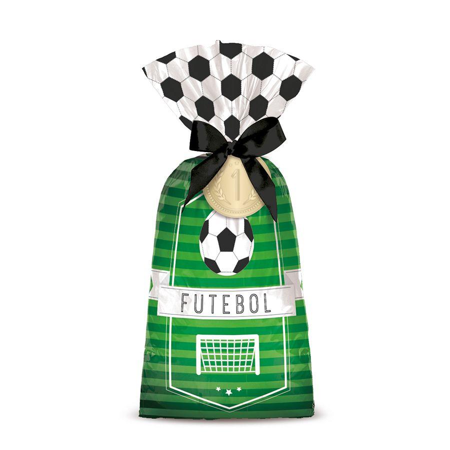 Sacola Surpresa para Lembrancinhas Tema Futebol com 8 unid