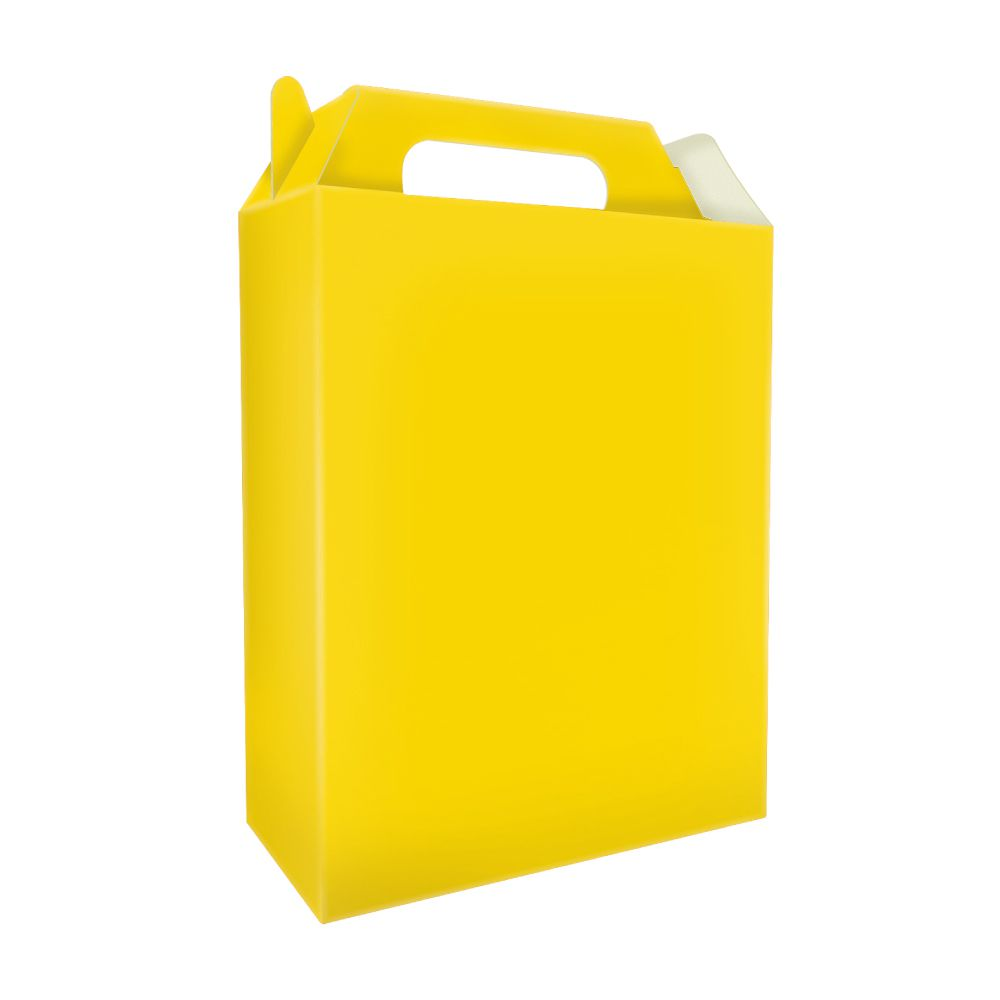 Sacolinha Surpresa de Caixinha Amarela pct com 8 Unid