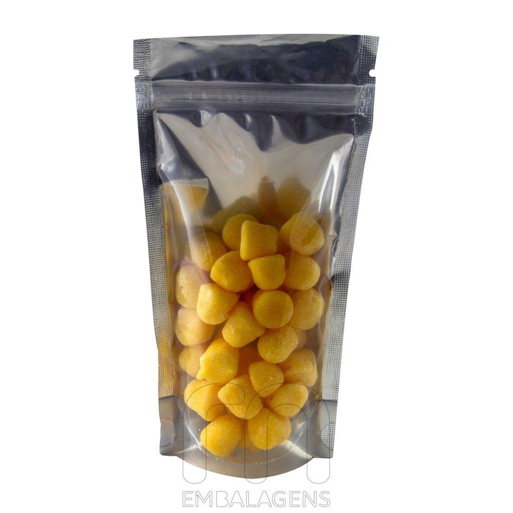 Saquinho Metalizado Transparente 19 x 10 pacote com 100 unid