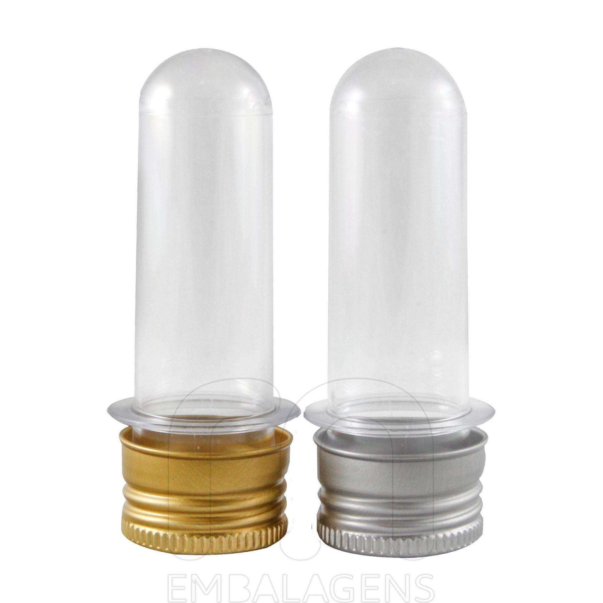 Tubetes para lembrancinha 8 cm tampa de Metal kit com 10 unidades