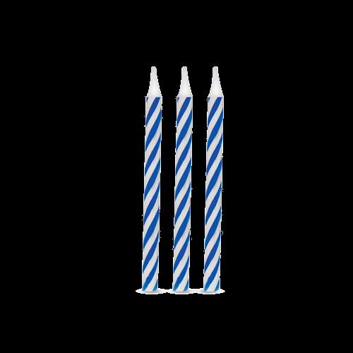 Vela de Aniversário Espiral Azul pct com 16 unid