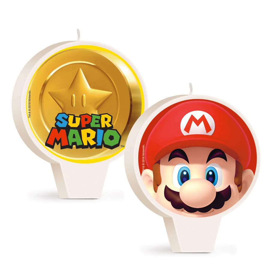Vela de Aniversário Super Mario