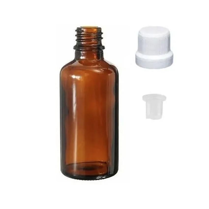 Vidro Âmbar de 30 ml Batoque Gotejador kit com 100