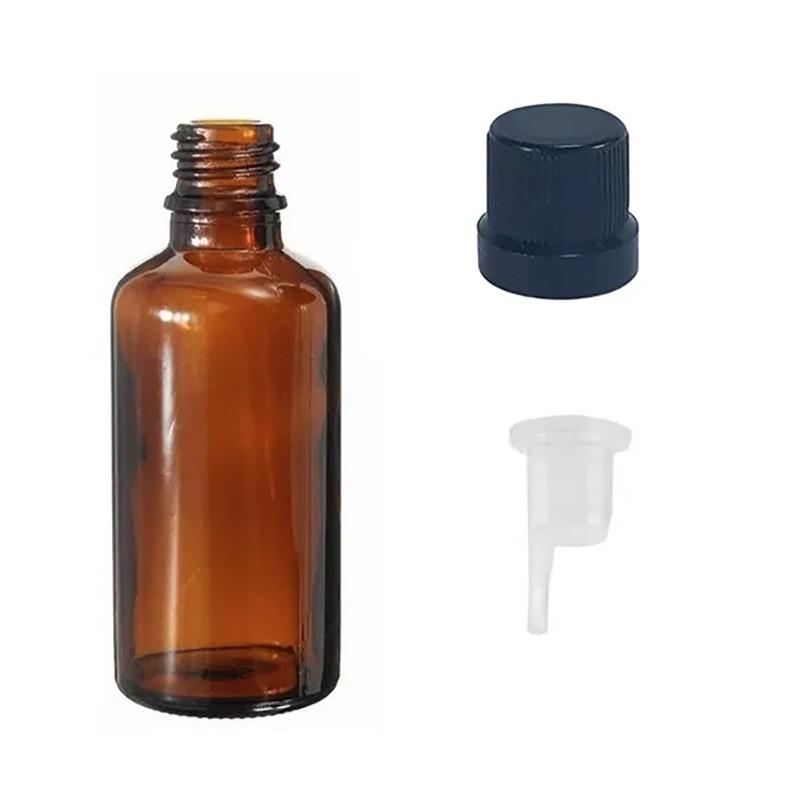 Vidro Âmbar de 30 ml Batoque Gotejador Tampa kit com 20