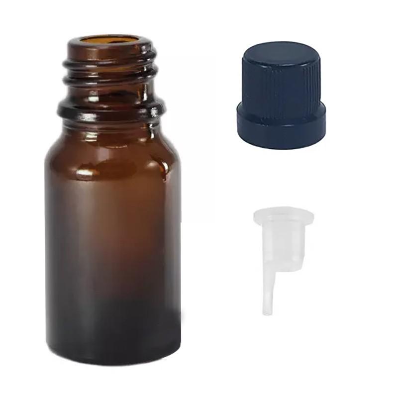 Vidro âmbar de 5 ml com batoque gotejador para óleo essenciais pct c/ 20