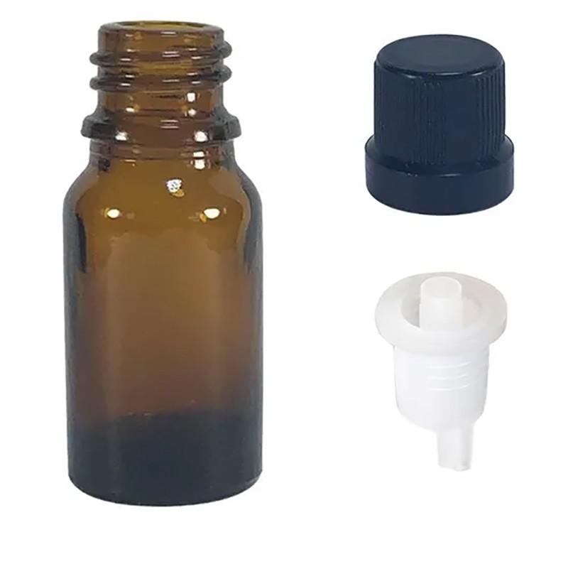 Vidro âmbar de 5 ml com batoque gotejador para óleo essenciais pct c/ 50