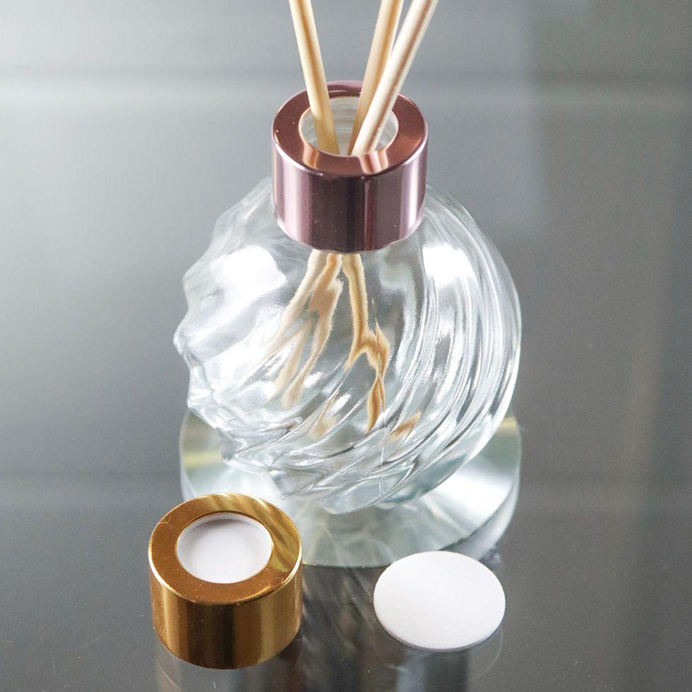 Vidro para Aromatizador 120 ml Bola Tampa Luxo e Varetas