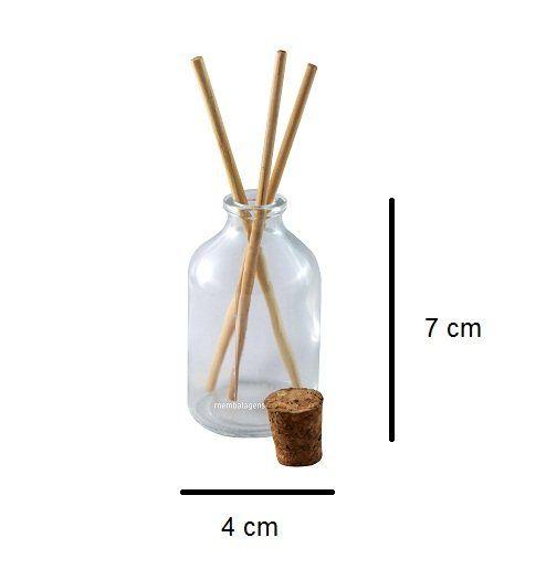 Vidro para Aromatizador com Rolha 50 ml kit com 50 unid