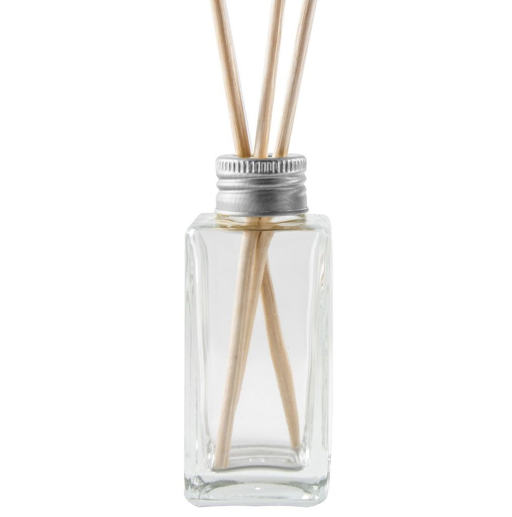 Vidro para Aromatizador Difusor 60 ml Quadrado kit com 10 unid