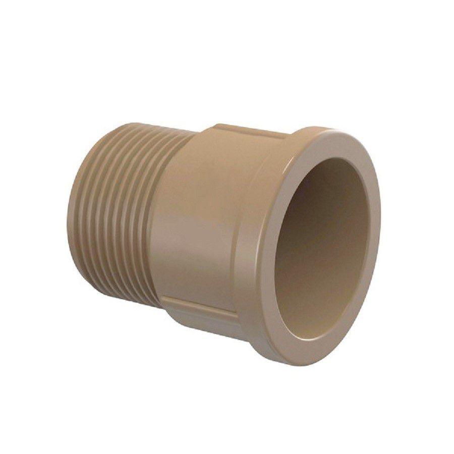 Adaptador PVC Solda Cola Rosca Curto de 25mm x 3/4 Polegada