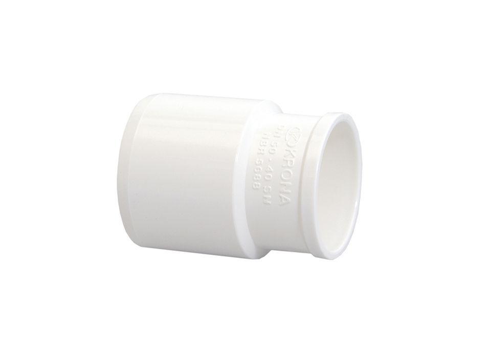 Bucha de Redução PVC Esgoto Longa de 50mm x 40mm (kit 12pçs)