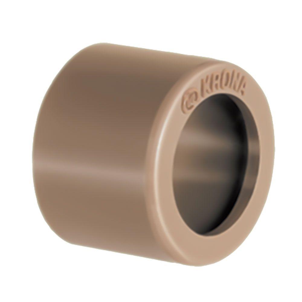 Bucha de Redução PVC Solda Rosca Curta de 25mm x 20mm