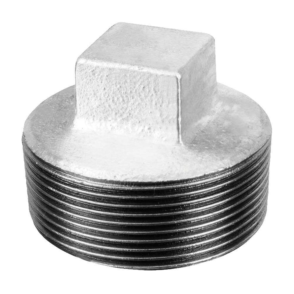 Bujão Plug Tampão Galvanizado de 1'' (Kit 3pçs)