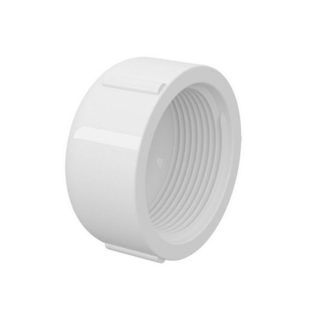 Cap Tampão PVC Roscável de 1.1/2'' Polegada (Kit 3pçs)