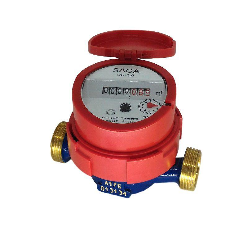 Hidrômetro Medidor de Água Unijato 1/2 1,5m³/h Água Quente