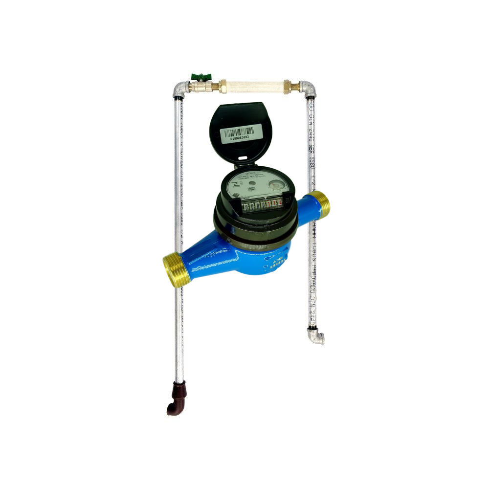 Hidrômetro Multijato Medidor De Água 1/2'' + Cavalete Copasa