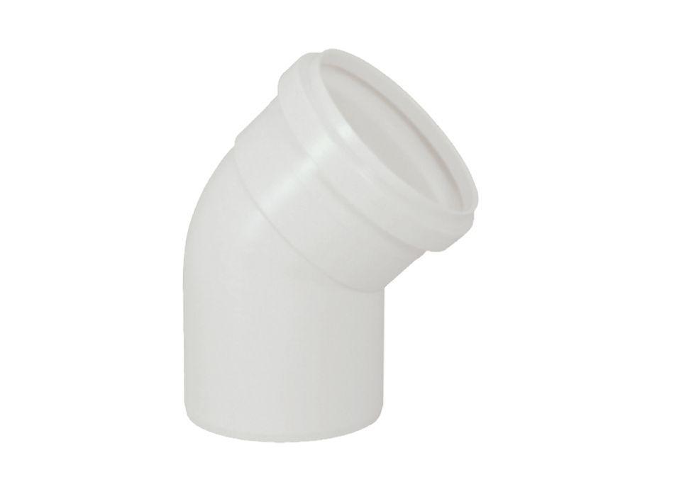 Joelho Cotovelo PVC Esgoto Branco de 75mm x 45º (kit 3pçs)