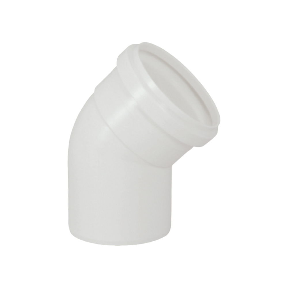 Joelho Cotovelo PVC Esgoto de 150mm x 45°