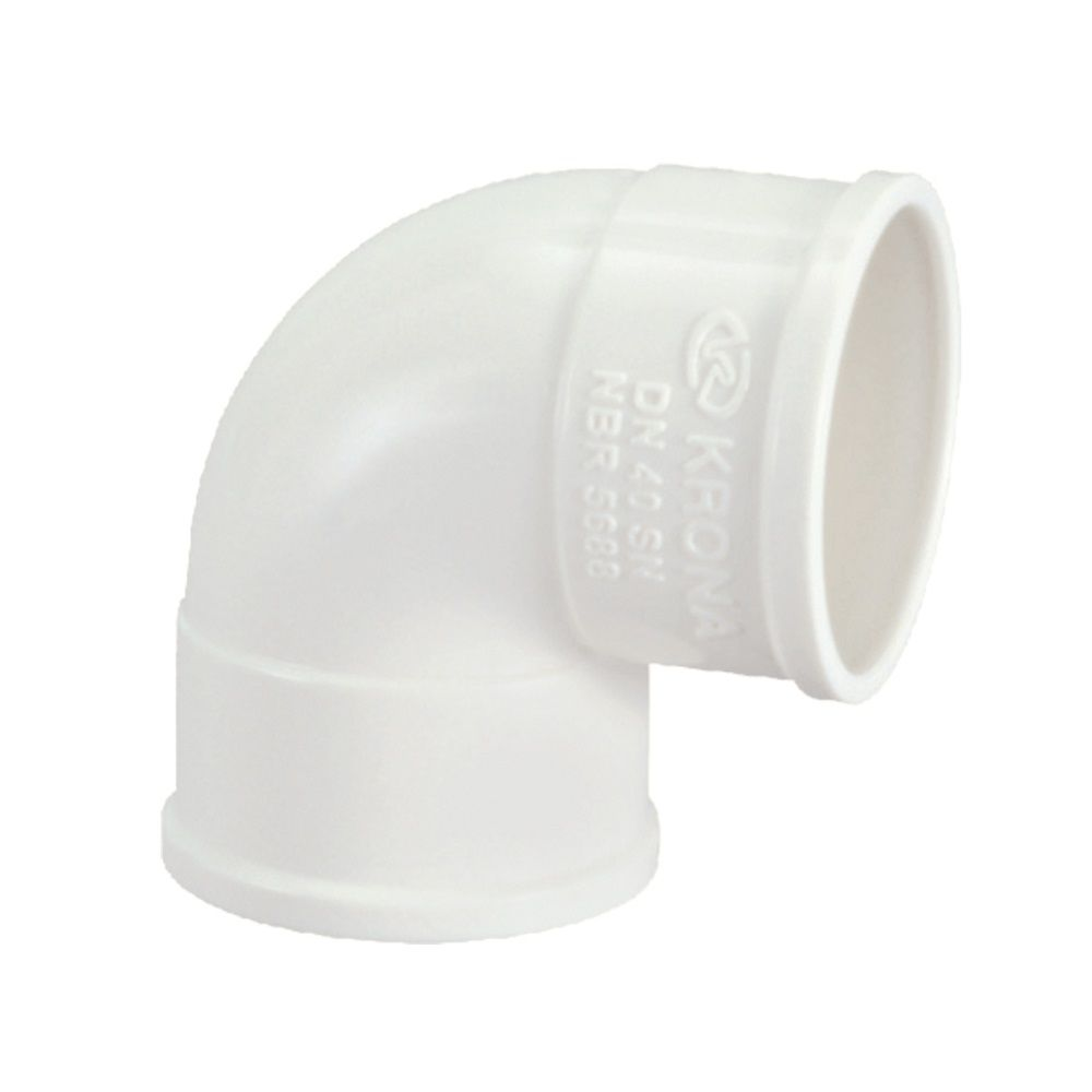 Joelho Cotovelo PVC Esgoto de 40mm x 90°