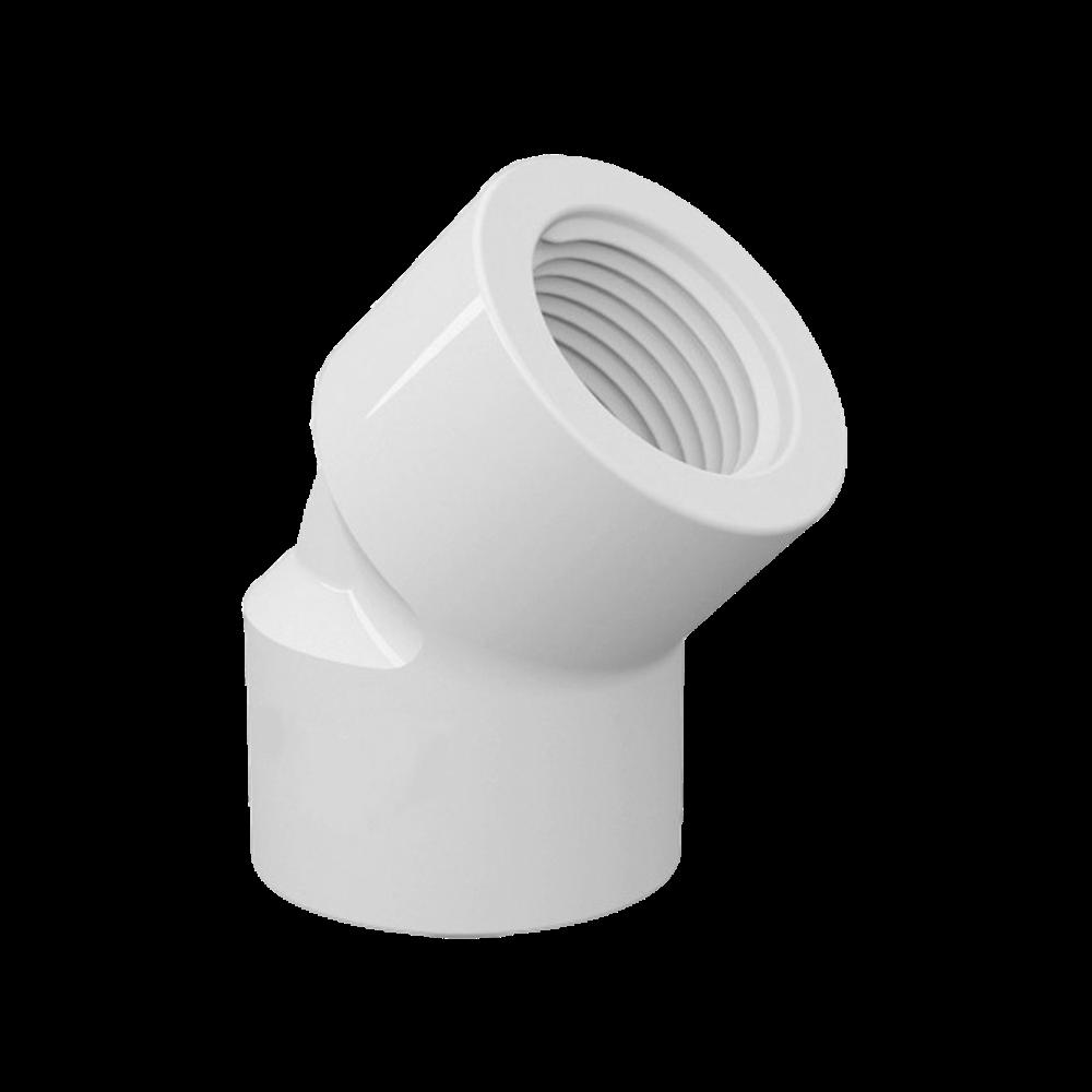 Joelho Cotovelo PVC Roscável de 2.1/2 Polegadas x 45º