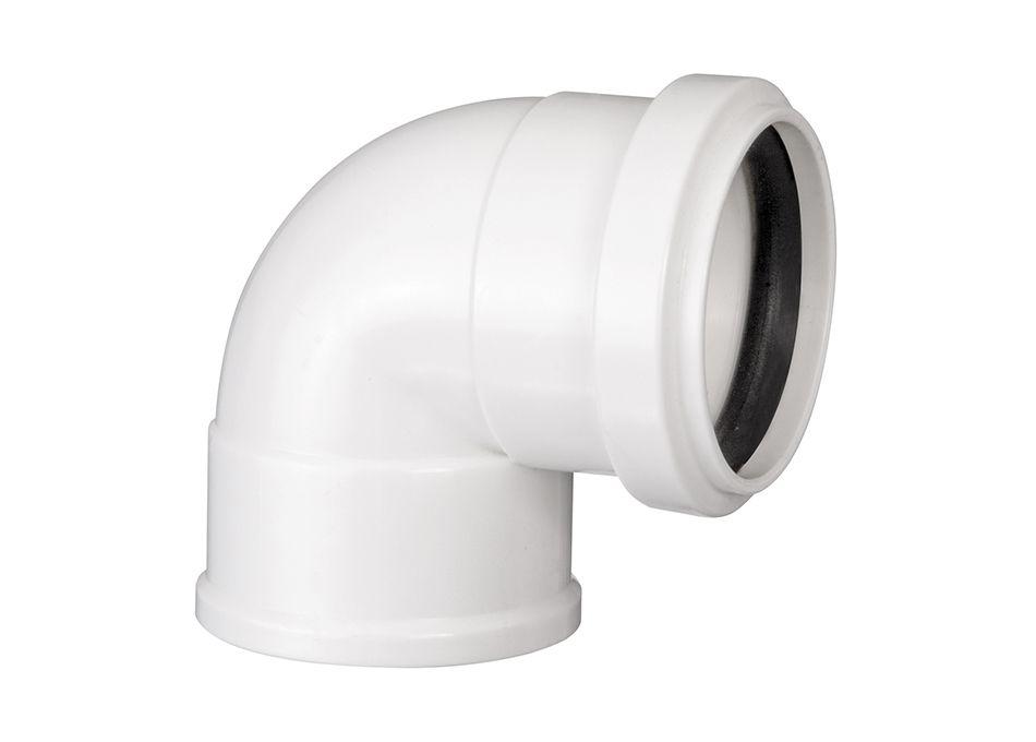 Joelho PVC Esgoto com Anel de 40mm x 90°