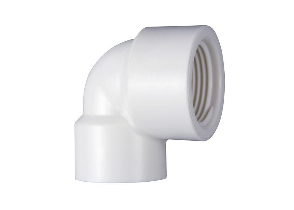 Joelho PVC Roscável com Redução de 3/4'' x 1/2'' x 90º