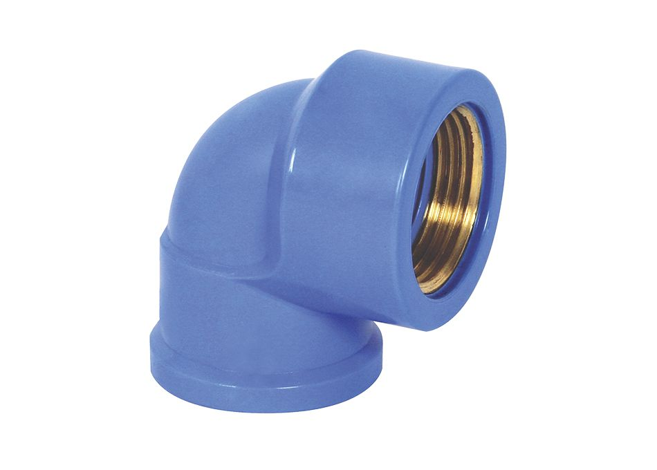 Joelho PVC Solda Rosca Bucha Latão de 25mm x 3/4''