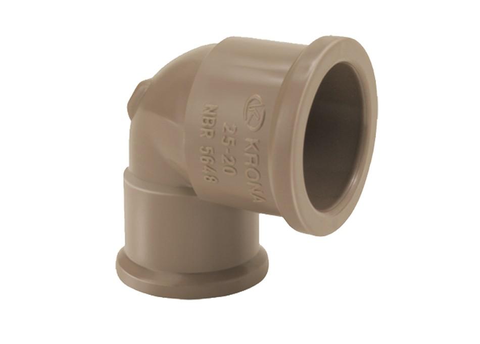 Joelho PVC Soldável de Redução 25mm X 20mm