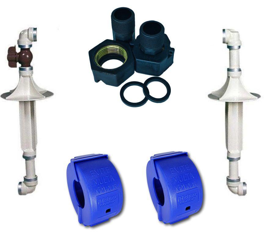 Kit Cavalete PVC de 3/4'' Tigre + Conexões PP 3/4'' e Lacres