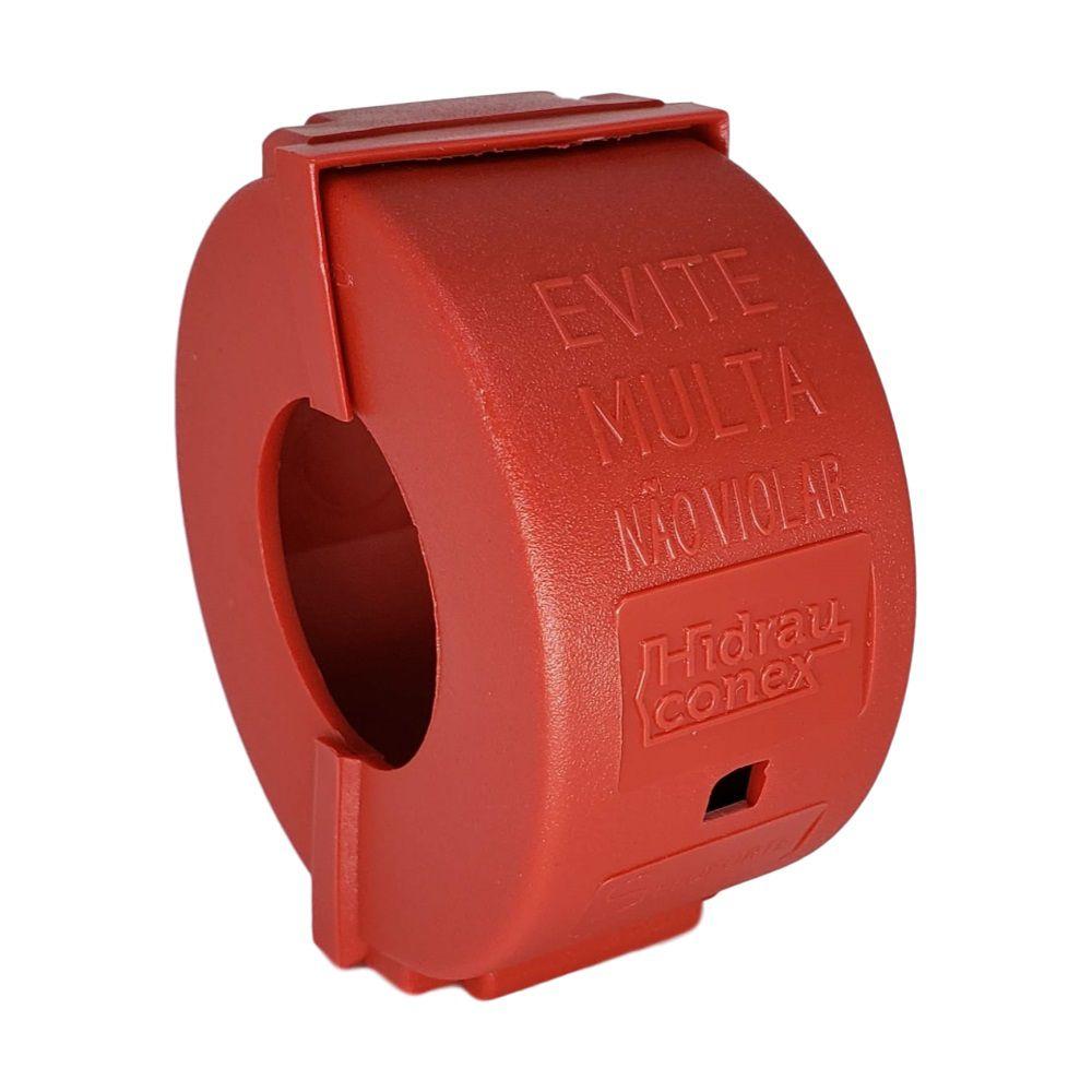Lacre Anti-fraude Vermelho para Hidrômetro 3/4'' (Kit 10pçs)