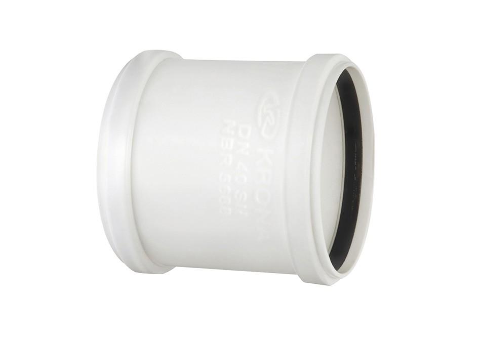Luva de corre PVC Esgoto Branco de 75mm com Anel