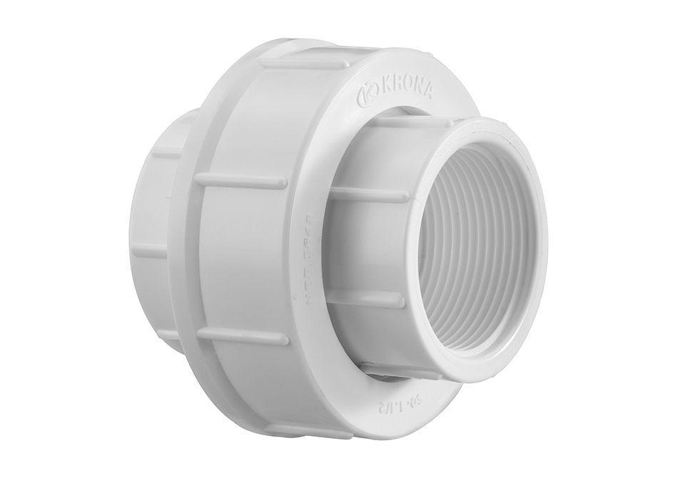 Luva de União PVC Roscável de 1 Polegada (kit 2 Peças)