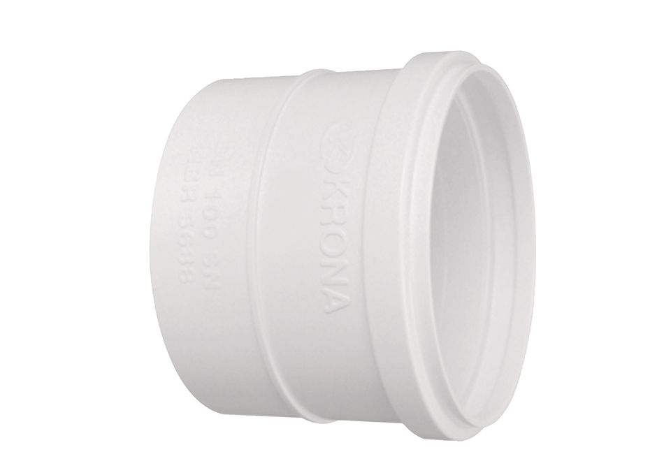 Luva PVC Esgoto Simples de 75mm