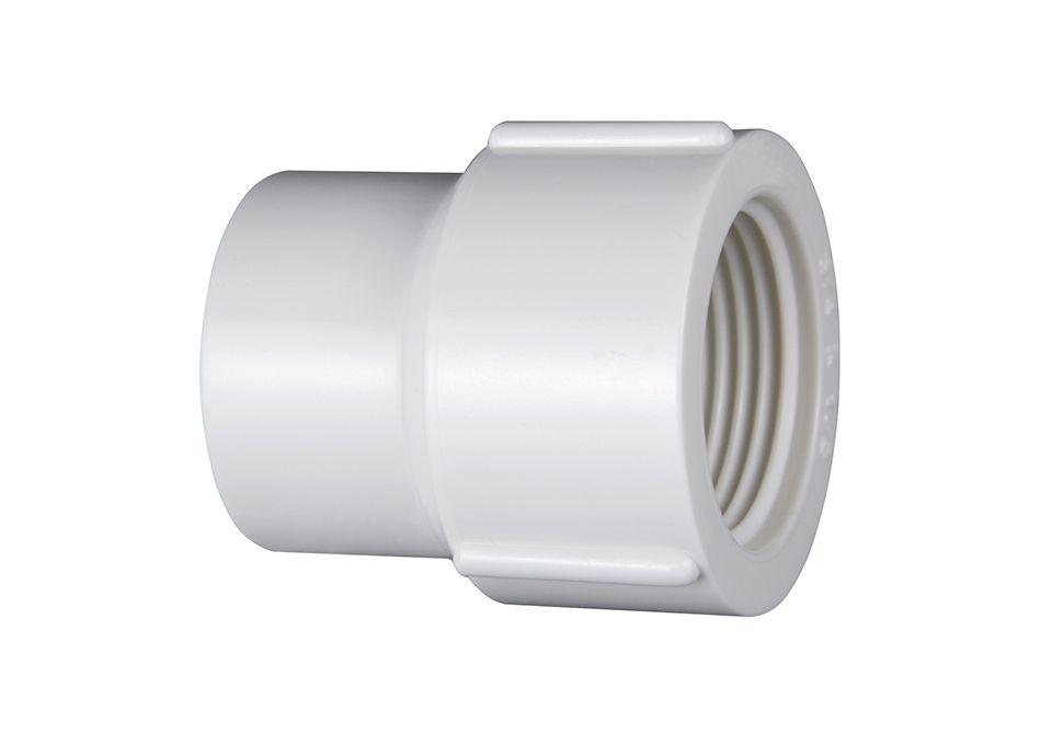 Luva PVC Roscável com Redução de 1'' x 3/4''