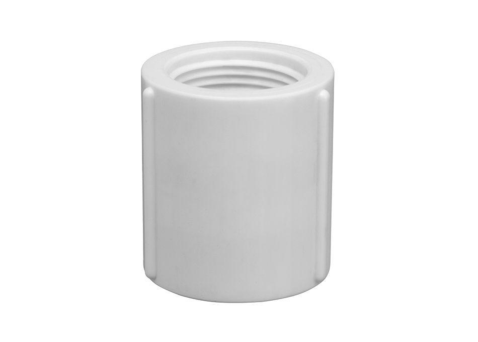 Luva PVC Roscável de 1.1/2 Polegada (Kit 3pçs)