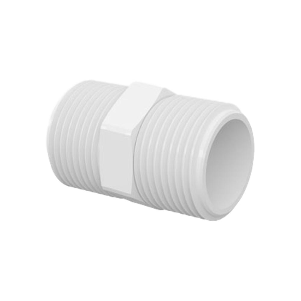 Nipel PVC Roscável de 1.1/4 Polegada