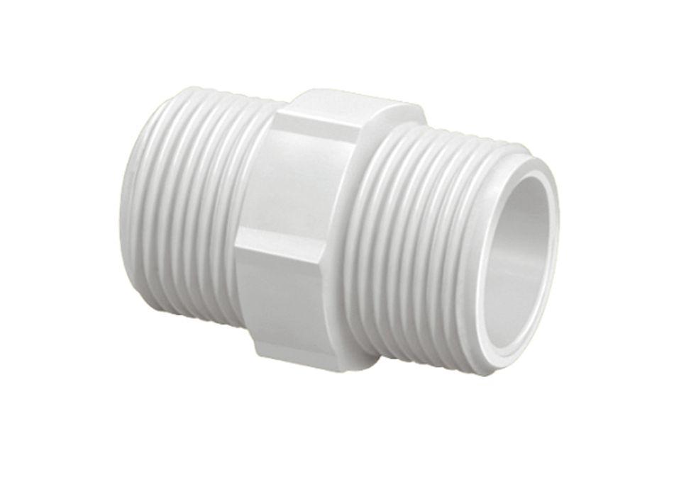 Nípel PVC Roscável Sextavado de 1/2 Polegada (Kit 35pçs)