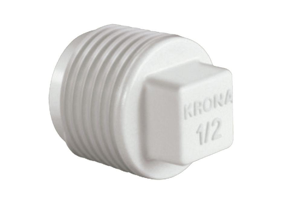 Plug Bujão PVC Roscável de 1/2 Polegada