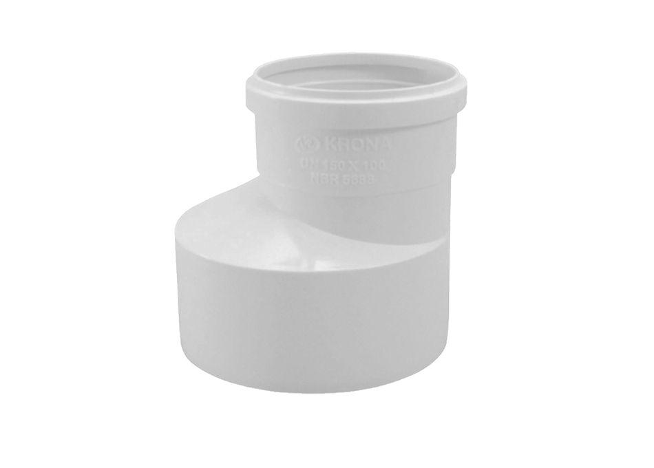 Redução PVC Esgoto Excêntrica de 100mm x 75mm