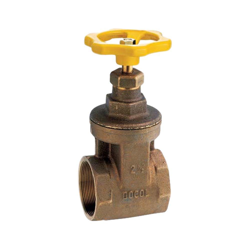 Registro de Gaveta Bronze Industrial com Volante de 2.1/2''