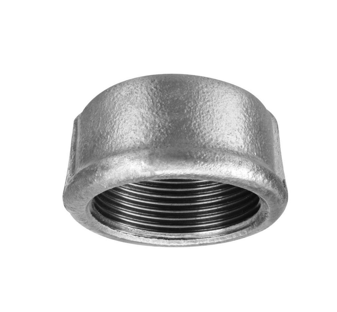 Tampão Cap Galvanizado de 1.1/2 Polegada (kit 2 Peças)