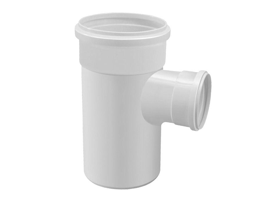 TE PVC Esgoto Branco com Redução de 75mm x 50mm