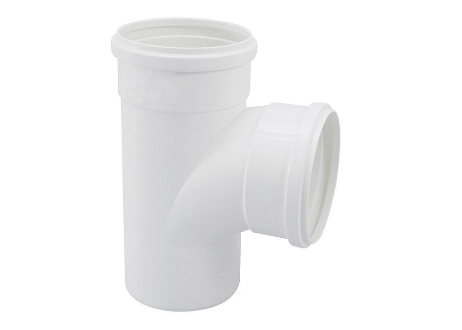 TE PVC Esgoto Branco de 75mm